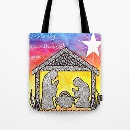 Watercolor Doodle Art | Nativity Scene Tote Bag
