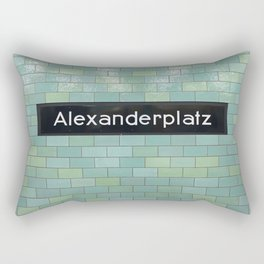 Berlin U-Bahn Memories - Alexanderplatz Rectangular Pillow