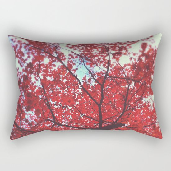Loving You Was Red Rectangular Pillow