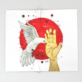Pigeon of the peace Throw Blanket