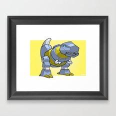 DinoBot Mini-Print Framed Art Print