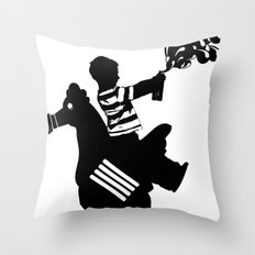 Riding Rooster  Throw Pillow