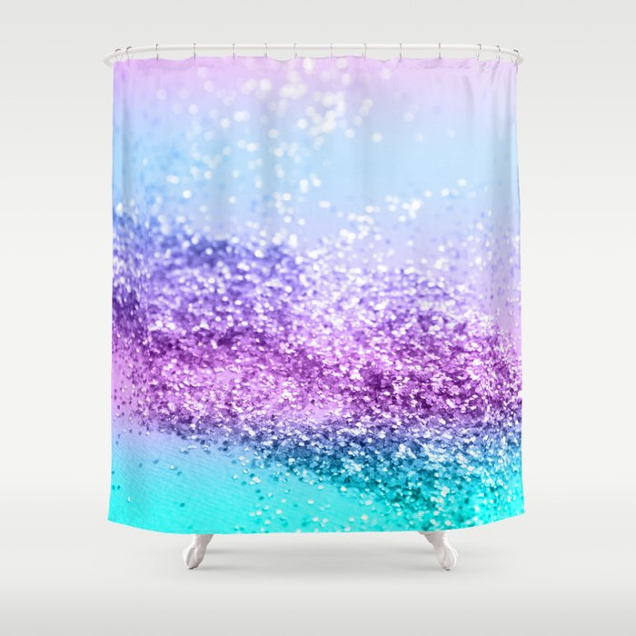 Unicorn Girls Glitter 14 Shiny Decor Art Society6 Shower Curtain