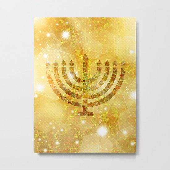 Hanukkah, the Festival of Lights Metal Print