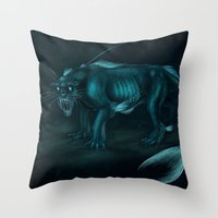 pocket fuel Throw Pillows featuring Nightmare Fuel by Nairas Products