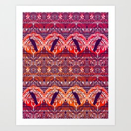 Peacock Patterm Art Print