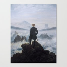 Wanderer above the Sea of Fog Canvas Print