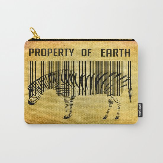 The encoded zebra Carry-All Pouch
