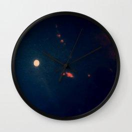 Moon Dust and Blood Smoke Wall Clock