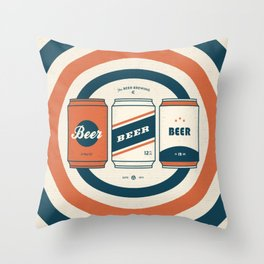 The Beer Brewing Company - Red Throw Pillow