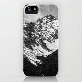 Black and White Canadian Rockies iPhone Case