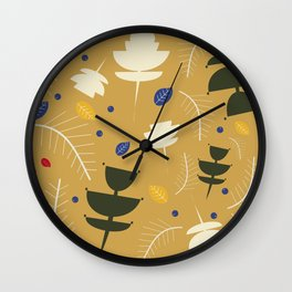 Spring floral #3 Wall Clock
