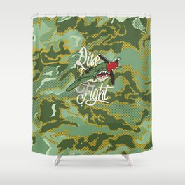 Rise and Fight Shower Curtain