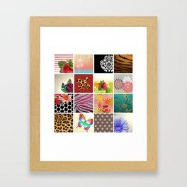 Color Me Girly Collage Framed Art Print
