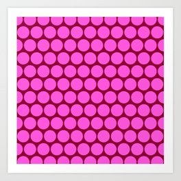 Pink Circus Dots Art Print