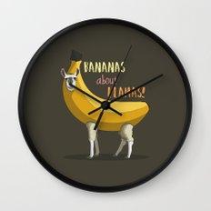 Bananas About Llamas! Wall Clock