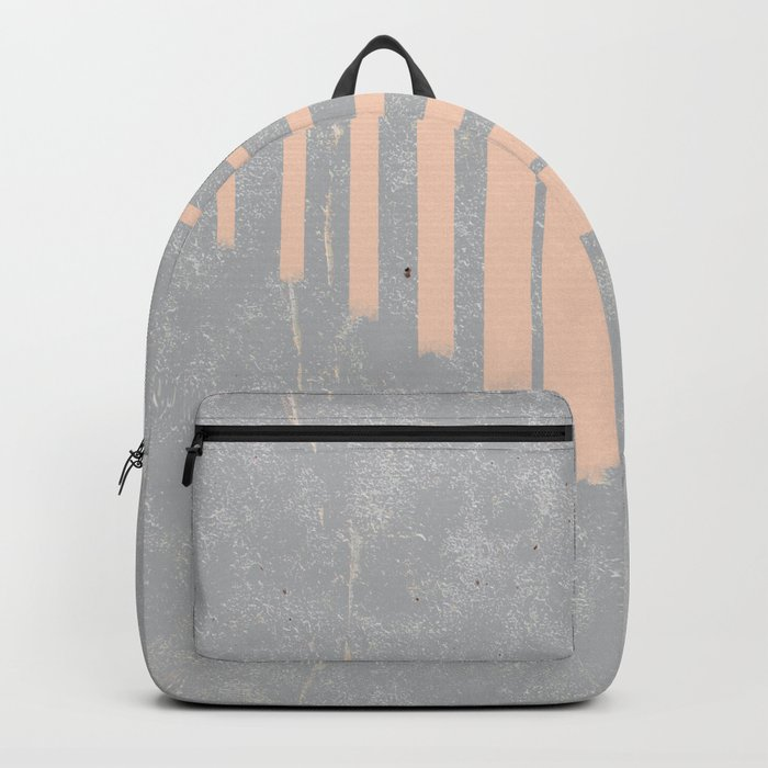 Blush stripes on concrete Backpack