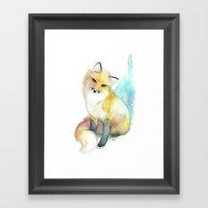 Little Foxy Framed Art Print