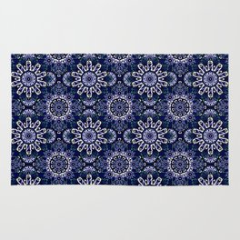 Blue Mandala Pattern Design Rug