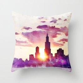 Chi Town Throw Pillow