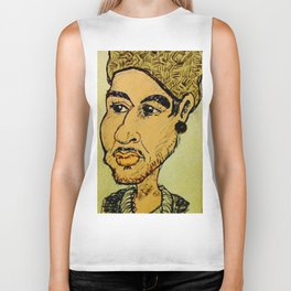 Young man with hat Biker Tank