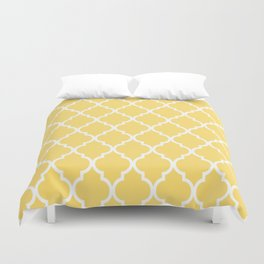 Classic Quatrefoil Lattice Pattern 731 Yellow Duvet Cover