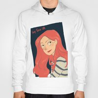 amy pond Hoodies featuring Amy Pond by Lara Pickle