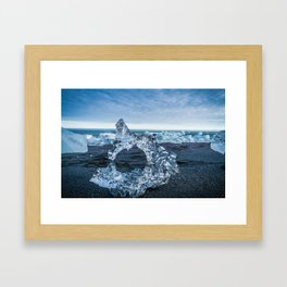 The Ice Horseshoe in Iceland Framed Art Print