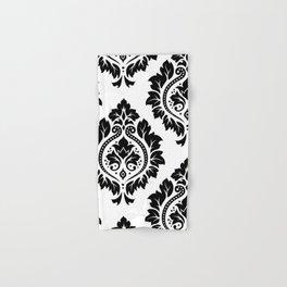 Decorative Damask Art I Black on White Hand & Bath Towel