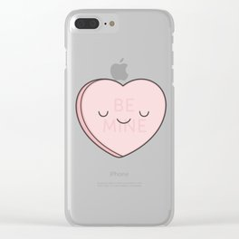 Pink Sweet Candy Heart Clear iPhone Case