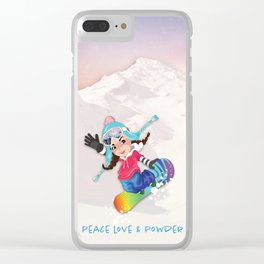 Boarder Beb - Sunset Run Clear iPhone Case