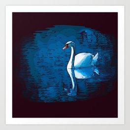 A Mute Swan Art Print