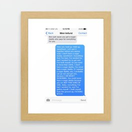 SHANGELA SUGAR DADDY TEXT Framed Art Print