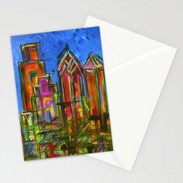 Philly Neon Skyline Stationery Cards