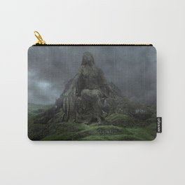 Giant Goddess Statue on a Green Hilly Landscape Carry-All Pouch