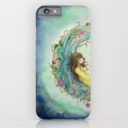 The Girl At The Moon iPhone Case