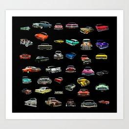 Car Cluster Art Print