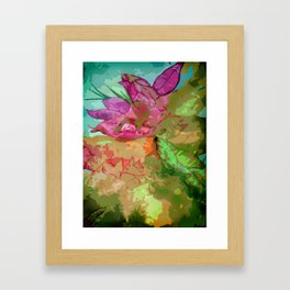 Abtract leaves and flower Framed Art Print