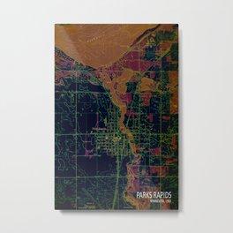 Park Rapids 1969, old map, vintage art  Metal Print
