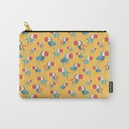 Yellow Toucan Birds Carry-All Pouch