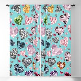 Heart Diamonds are Forever Love Blackout Curtain
