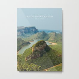 Blyde River Canyon, South Africa Travel Artwork Metal Print