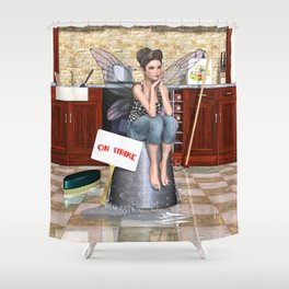 Cleaning Faerie Strike Shower Curtain