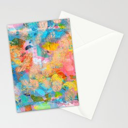 Abstract Pattern in Blush Pink Stationery Cards