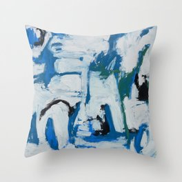 Italian Blue Throw Pillow