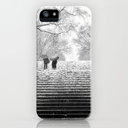 Nor'easter Bethesda Terrace Central Park New York iPhone Case