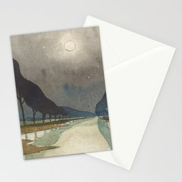 Charles Guilloux - L'allée d'Eau - Surreal Dreamscape Stationery Cards