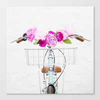 bike Canvas Prints featuring Bike by Lovely Indeed