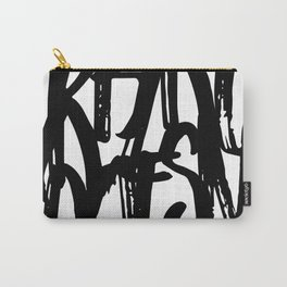 Minimal Typography Print Carry-All Pouch