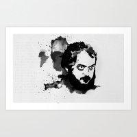 stanley kubrick Art Prints featuring Stanley Kubrick by Kongoriver